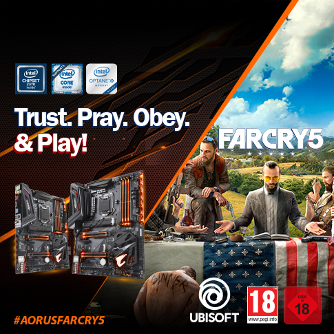 Buy selected AORUS Gaming motherboards and get a Far Cry 5 PC game key for FREE*.
